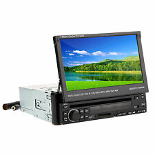 "1 DIN In Dash 7"" Touch Screen iPod BT Car DVD Stereo Player Radio Receiver"