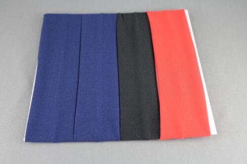 Set pack of 4 solid sport sporty stretch elastic headband kids girls childrens