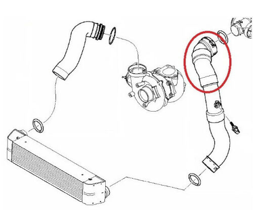 BMW X3 E83 2.0D INTERCOOLER TURBO HOSE PIPE 11613450222 11613405535