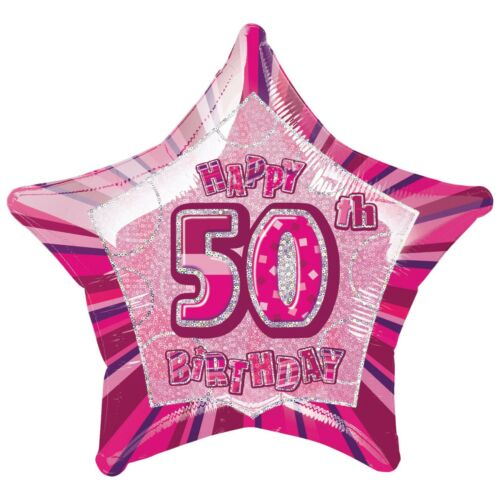 Pink Glitz Milestone Birthday Party Tableware Decorations 13-100 All Occasions