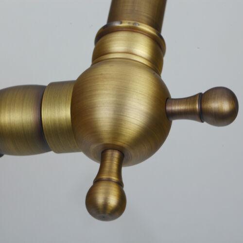 Antique Brass Bathroom Kitchen Vanity Basin Sink Faucet Mixer Taps Deck Mounted