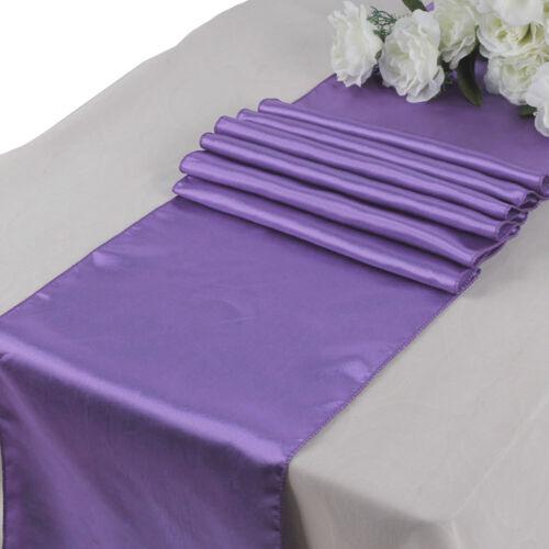 "11/""  x 108/"" Satin Table Runners Wedding Chair Sash Banquet Reception Party Décor"