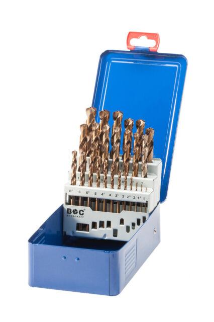 Spiralbohrersatz 1 - 13mm 25-teilig, HSS-Co geschliffen , Metallbohrer , Bohrer