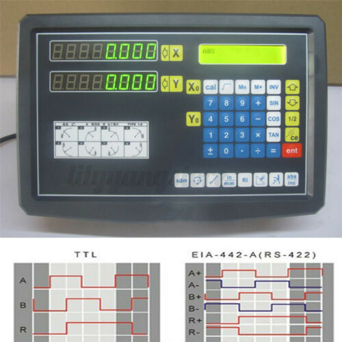 2Axis//3Axis Digital Readout DRO Display Linear Scale Encoder for Milling