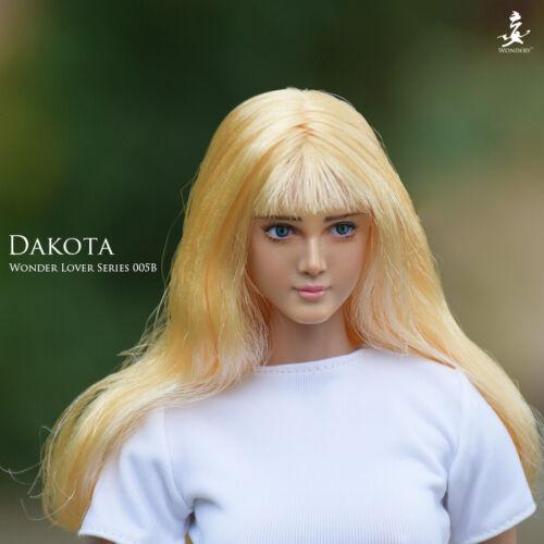 WONDERY Wonder Lover 005B Dakota Tan Head w// Move Eye 1//6 FIT Phicen Female body