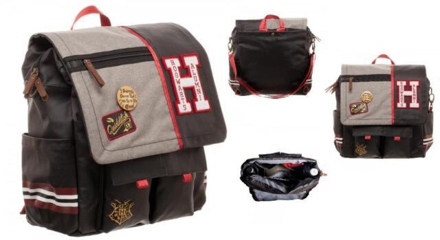 HARRY POTTER Deluxe HOGWARTS Alumni CONVERTIBLE Utility BACKPACK Messenger BAG
