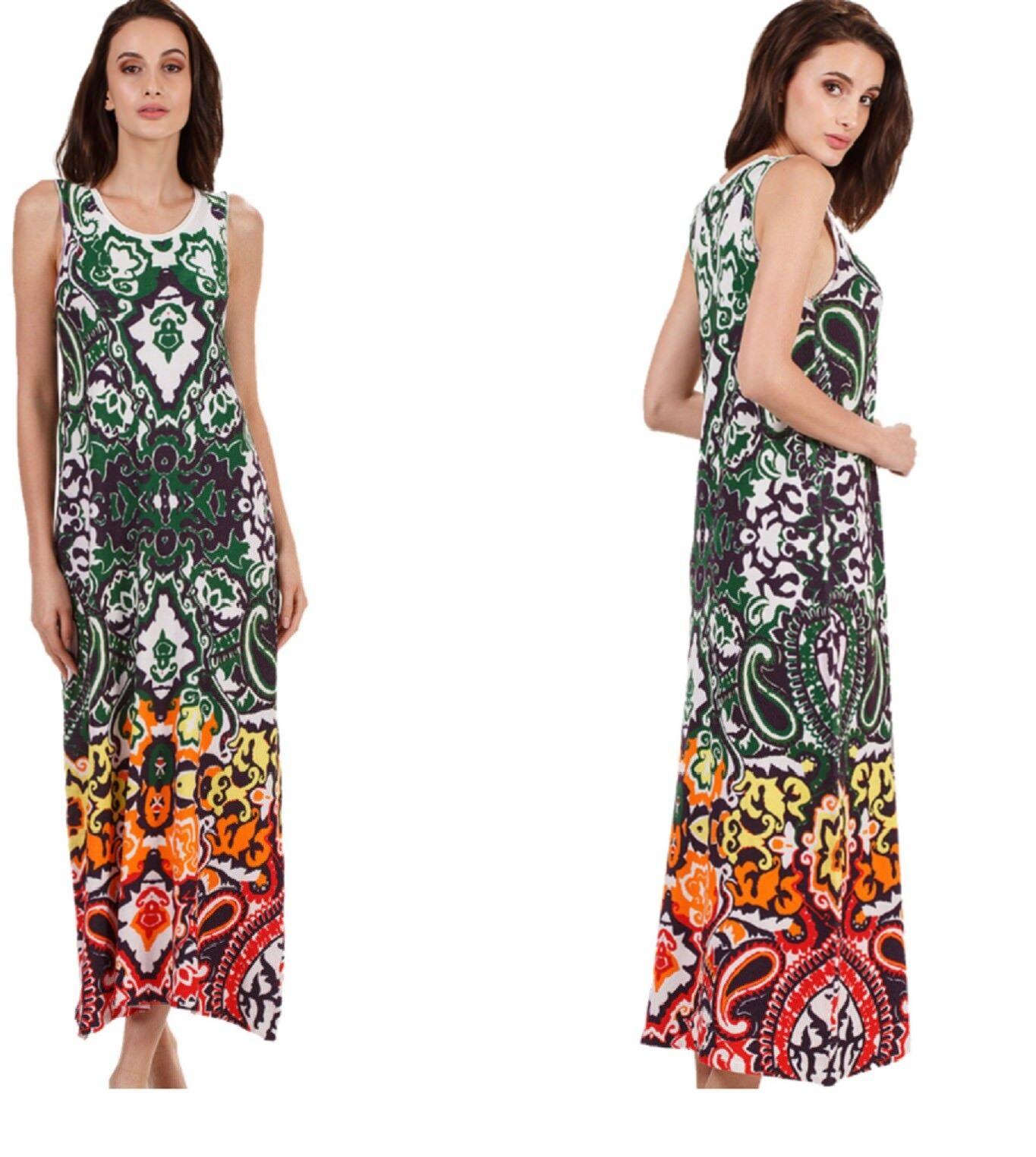 KOOI knitwear Stretch Print-Kleid dressmulticolor bunt DC Iv-KO 18011