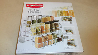 RUBBERMAID 1951590 PULL DOWN SPICE RACK 7R56- NEW