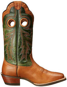 New $239 ARIAT Wildstock Western Cowboy Boot Barnwood Brown / Neon ...