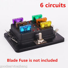 New 6 Way Circuit 32V DC Blade Fuse Box Block Holder for Auto Car Boat Vehicle