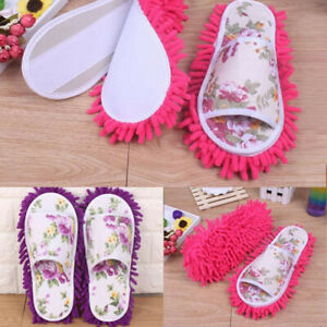 Women-Dust-Mop-Slippers-Socks-Microfiber-House-Slippers-Bedroom-Shoes