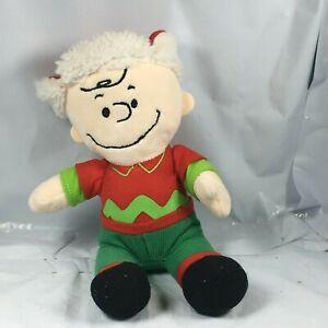 Charlie-Brown-Plush-We-Wish-You-A-Merry-Christmas-Peanuts-No-Music-Snoopy-EUC-FS
