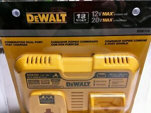 DEWALT-DCB103-Combination-Dual-Port-Fast-Battery-Charger-NiCd-NiMH-Li-Ion-NEW