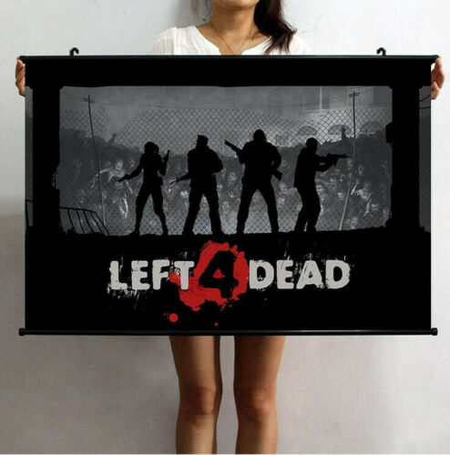 SURVIVE TEAM GAME LEFT 4 DEAD ZOMBIE HD GAME ORIGINAL QUALITY POSTER WATERPROOF
