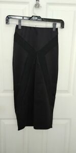 Charlotte-Russe-Black-XS-A-Line-Skirt-Decadence-Line-NWT