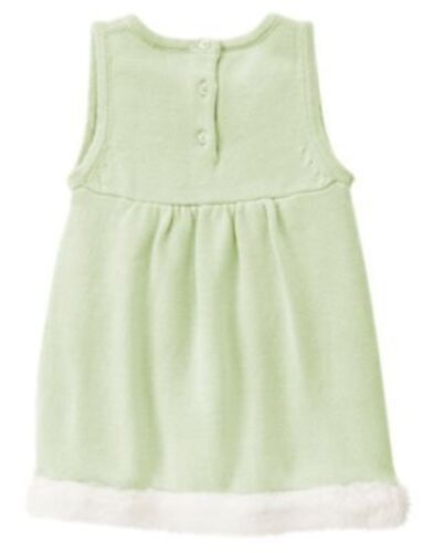 GYMBOREE FAIRY WISHES GREEN FUR POCKET HEM SWEATER JUMPER 6 12 18 24 2T 3T 4T 5T