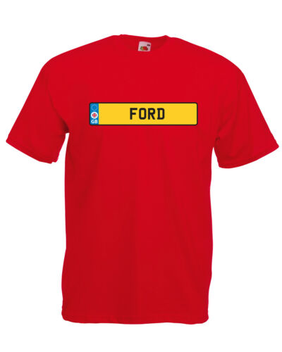 /'Ford/' Number Plate Graphic Design Quality t-shirt tee mens unisex