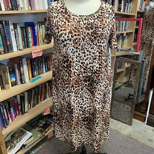 Motivated Lularoe Carly Dress 2x Nwt Leopard Sku 42