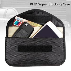 RFID-Seguro-Bloqueador-de-senal-caso-Llave-del-coche-FOB-Bolsa-Jaula-de-Faraday