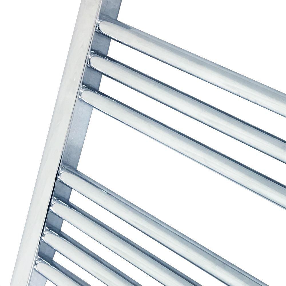 500 de mm x 1800 mm Straight Chrome salle de 500 bain sèche-serviettes Radiateur 2923 BTU 56ef77