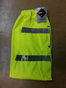 NEW Ex Police Waterproof Gore-Tex Hi Vis Over Trousers Size Large Long LL