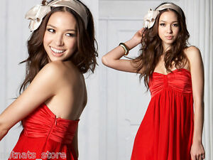 Strapless-Two-Layers-Semi-Sheer-Boobtube-Party-Cocktail-Formal-Red-Dress-R-8785