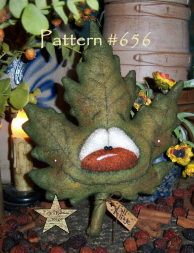 "Patti/'s Ratties Primitive Halloween Thanksgiving 8/"" Leaf Doll Paper Pattern #656"