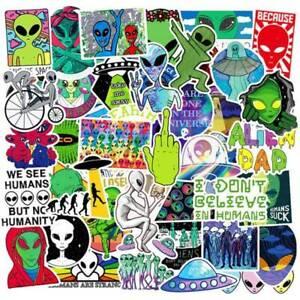 50Pcs-ET-UFO-Cartoon-Stickers-Alien-Stickers-DIY-Skateboard-Laptop-Car-Decals
