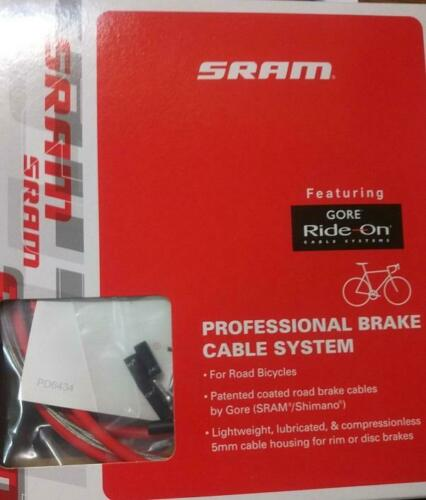 coated Gore Red SRAM Ride-On professional brake cable system