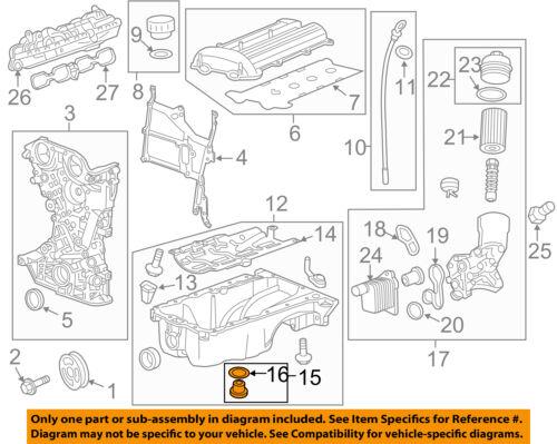 GM OEM Engine Parts-Drain Plug 55568037