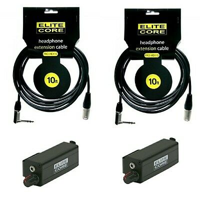 Elite Core 18/' ft Headphone Extension Cable /& Bodypack w//VC for Aviom A-16ii