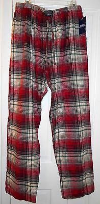 New Polo Ralph Lauren Plaid Soft Cotton Flannel Lounge Sleep Pajama Pocket Pants