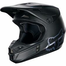Fox Racing Adult V1 Motocross Dirt Bike Helmet MATTE BLACK  2017 SIZE LARGE