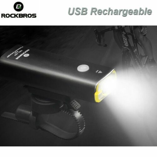 ROCKBROS Bicycle Head Front Light USB Rechargeable Waterproof Cycling Lamp LED