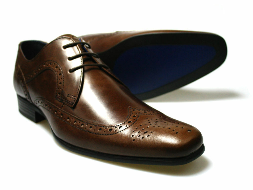 Red Tape Louth Men's Brown Leather Brogue shoes UK 7-12