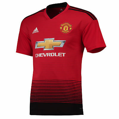 Manchester United Football Home Jersey Shirt Tee Top 2018 19 Mens adidas