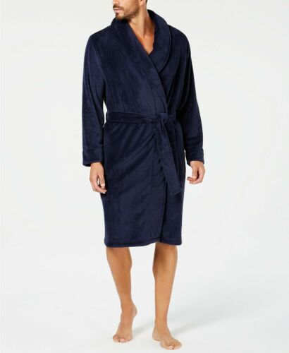 One Size Fits Most $70.00 Club Room Men/'s Plush Robe Blue