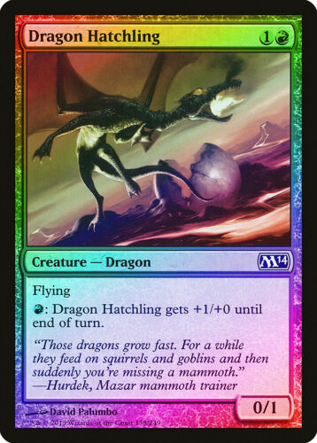 Dragon Hatchling FOIL Magic 2014 M14 NM-M Red Common MAGIC MTG CARD ABUGames