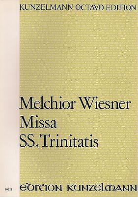 Chor Wiesner 2 Violinen Trinitatis für Soli 2 Clarinen und Gbass Missa SS