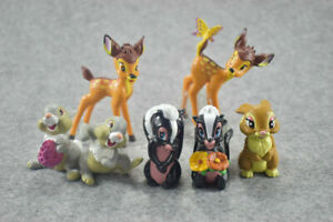 Bambi-Thumper-Catoon-Plastic-Assorted-Figures-7-Pcs-Cake-Topper-Party-Toys-Gift