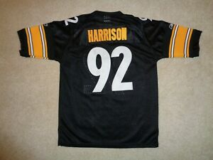 Youth-Sewn-Reebok-Pittsburgh-Steelers-James-Harrison-Football-Jersey-Size-M