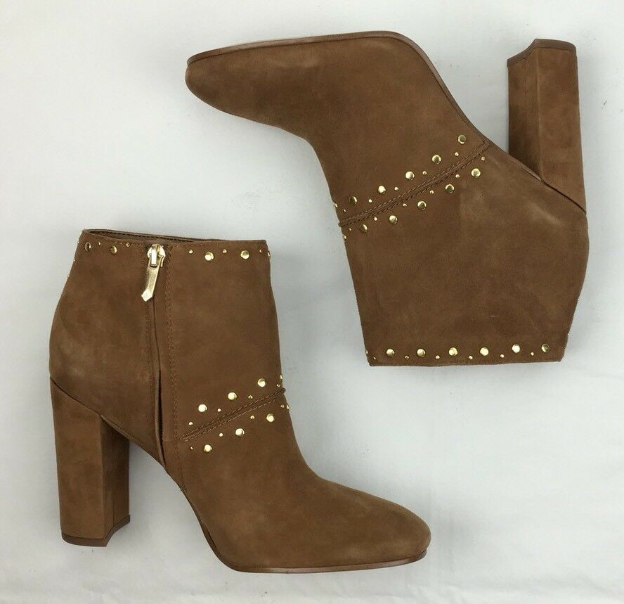 SAM EDELMAN Ankle Stiefelies Chandler Zip Zip Zip Saddle Suede Heeled Leather Stiefel 9 M 729123