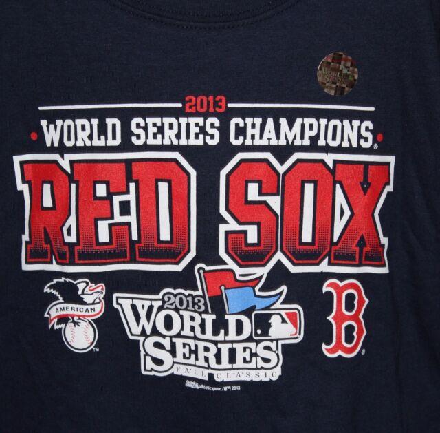 9e2b0abb Boston Red Sox 2013 World Series Champions Youth Small Blue T Shirt NWT