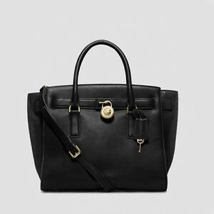 Michael Kors Hamilton Traveler Large Leather Shoulder Satchel ...