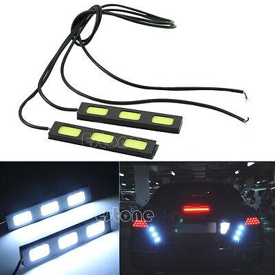Super Bright Waterproof COB Car 2x 3-LED Lights 12V DRL Fog Driving Lamp White
