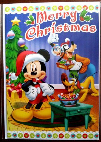 "sapin Neuf + enveloppe Carte Disney /""Merry Christmas/"" Mickey H11"