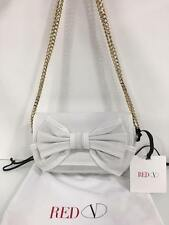 Red Valentino White Leather Bow Embellished Shoulder Bag Made In Italy Brand New