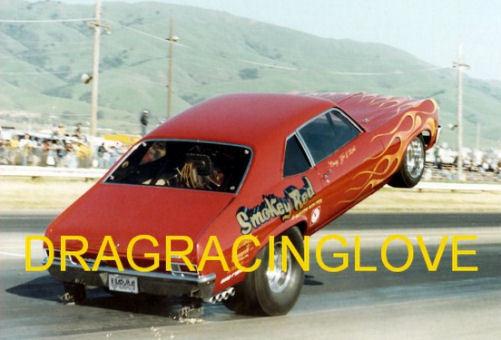 """Smokey Red"" 1969 Chevy Nova ""Wheelstander"" PHOTO!"