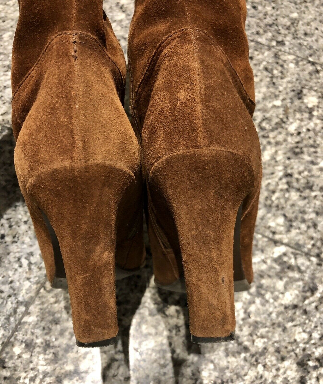 MIU MIU by PRADA marron Suede Embroiderouge Embroiderouge Embroiderouge Tall bottes 972937