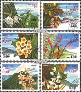 Laos-655-660-kompl-Ausg-gestempelt-1983-Blueten